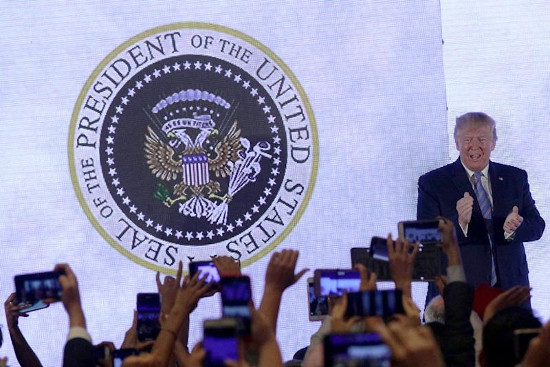 A more fitting presidential seal, perhaps? Source: Alex Wong/Getty Images