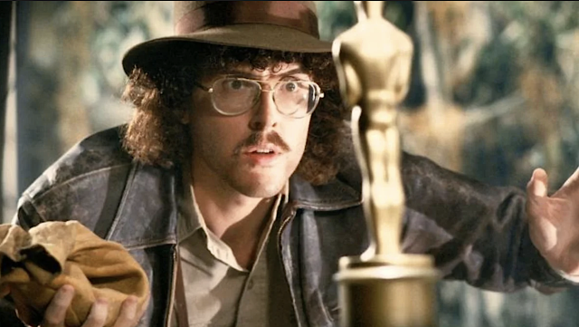 'Weird' Al Yankovic and the Oscar that 'UHF' deserved. (Photo: Orion Pictures)