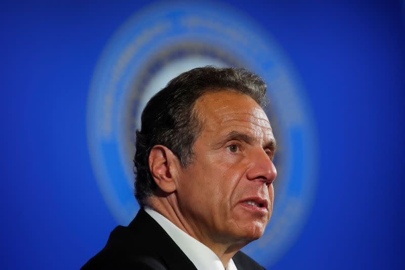 New York Governor Cuomo holds a briefing on the coronavirus response at the National Press Club in Washington