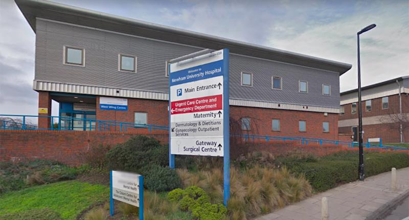 An image of Newham General Hospital in east London.