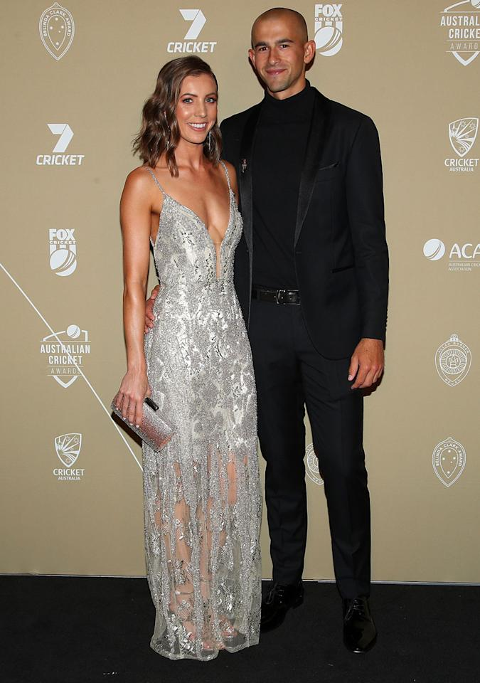 <p>Ashton Agar and Madeleine Hay. </p>