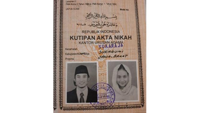 Pas Foto 5 Seleb di Buku Nikah saat Pakai Hijab Ini Curi Perhatian (sumber: Instagram.com/tengku_firmansyah)