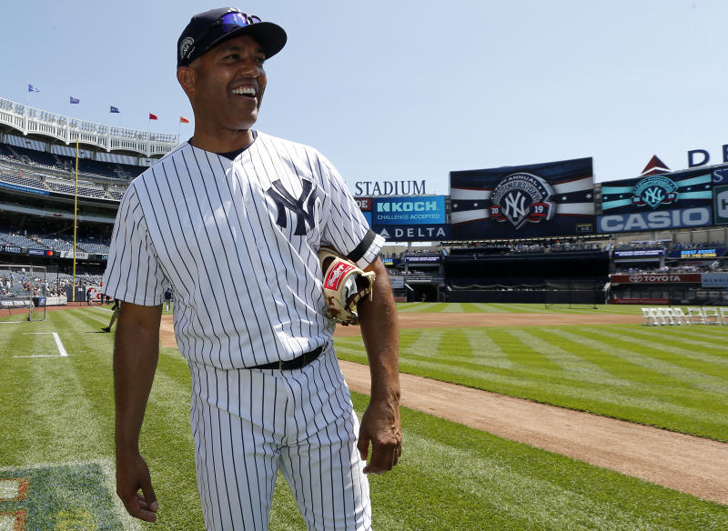 NEW YORK, NEW YORK - JUNE 23: Former New York Yankee and 2019 Baseball Hall of Fame inductee Mariano Rivera walks on the field during the teams Old Timers Day prior to a game between the Yankees and the Houston Astros at Yankee Stadium on June 23, 2019 in New York City. (Photo by Jim McIsaac/Getty Images)