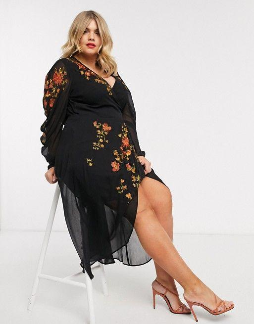"<p><strong>Asos Curve</strong></p><p>us.asos.com</p><p><strong>$69.60</strong></p><p><a href=""https://go.redirectingat.com?id=74968X1596630&url=https%3A%2F%2Fwww.asos.com%2Fus%2Fasos-curve%2Fasos-design-curve-wrap-front-midi-dress-with-embroidery%2Fprd%2F13478001&sref=https%3A%2F%2Fwww.goodhousekeeping.com%2Fclothing%2Fg27816744%2Fbest-fall-dresses%2F"" target=""_blank"">Shop Now</a></p>"