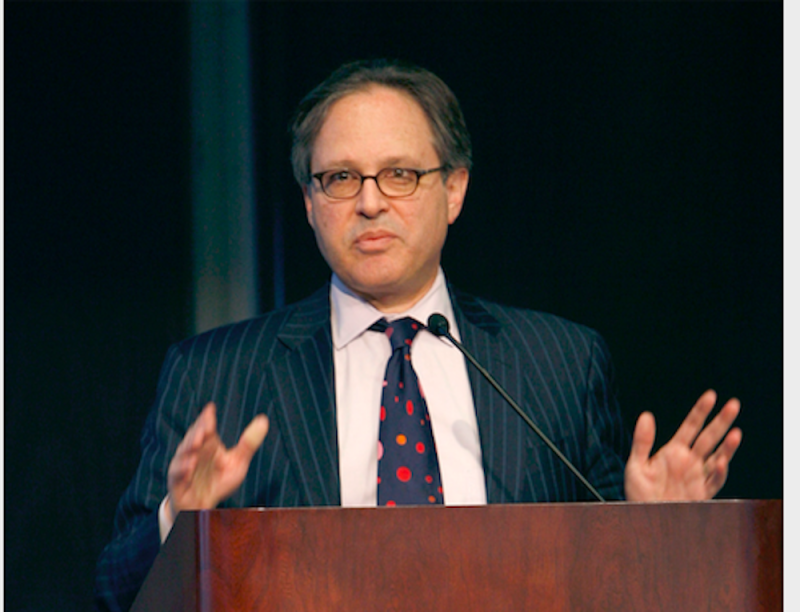 Nicholas Lemann, pictured here, speaking when he was dean of Columbia University's School of Journalism in 2007. (Photo by Joe Kohen/WireImage)