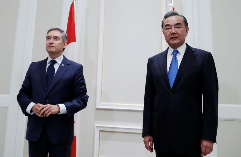 Canada presses China counterpart over detainees, Hong Kong - Ottawa