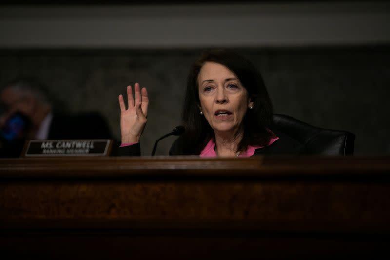 Top Democrat on Senate panel opposes sending subpoenas to tech CEOs