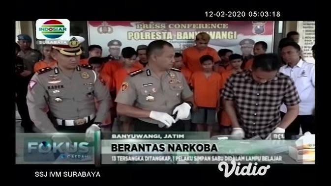 VIDEO: Polisi di Jombang Ringkus 20 Tersangka Pengedar Narkoba