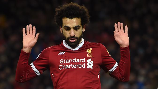 Bintang Liverpool, Mohamed Salah. (AFP/Paul Ellis)
