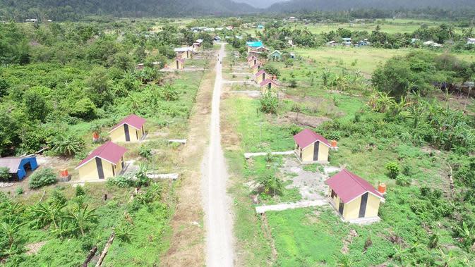 Rumah khusus (rusus) untuk 40 kepala keluarga (KK) di Kabupaten Manokwari Selatan, Papua Barat (dok: PUPR)