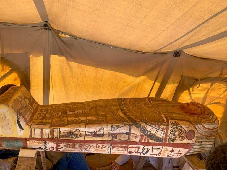Egypt discovers 14 ancient sarcophagi at Saqqara