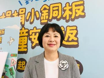 靖娟兒童安全文教基金會執行長林月琴。(蕭照平攝)