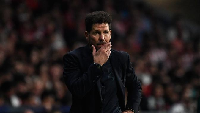 Pelatih Atletico Madrid, Diego Simeone. (AFP/Pierre-Philippe Marcou)
