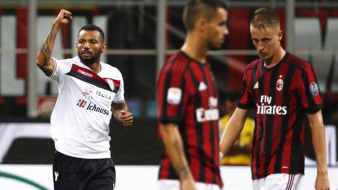 4. Joao Pedro (Cagliari) - 16 Gol (3 Penalti). (AFP/Marco Bertorello)