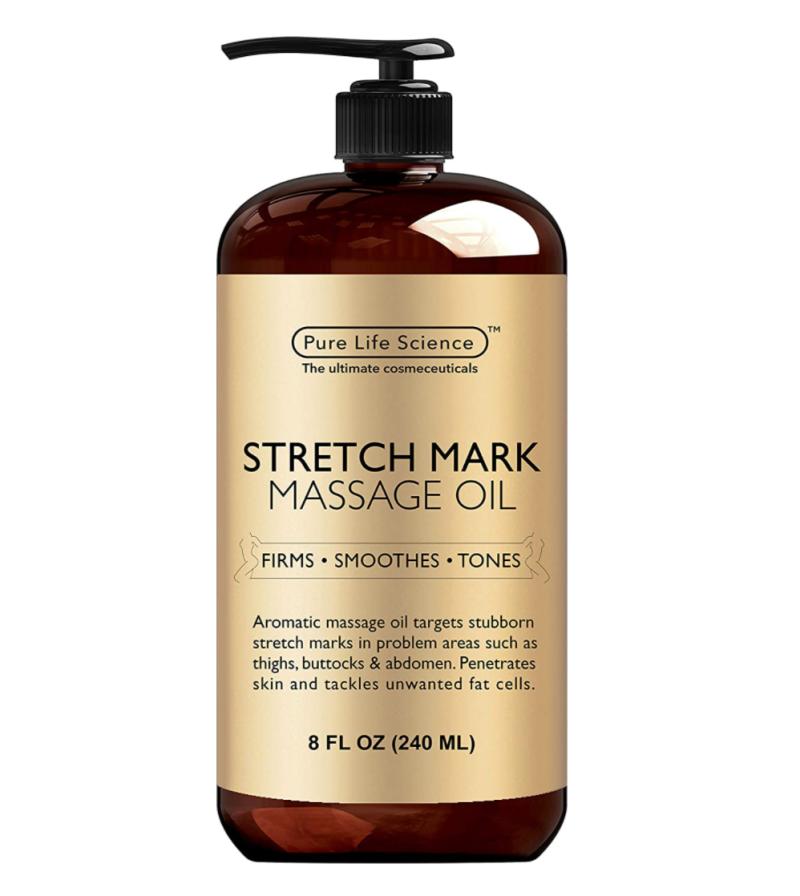 Pure Science Stretch Mark Massage Oil (Photo via Amazon)
