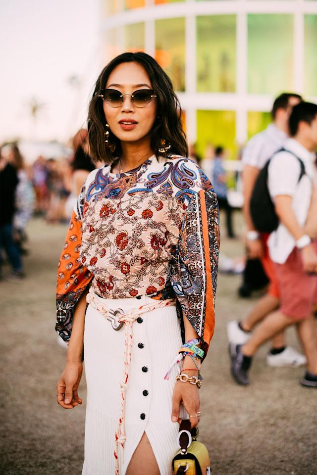 <p>Keep it classy with a modern take on bohemia. Think floral blouses, flowing midi skirts, and funky accessories to top it all off.</p>