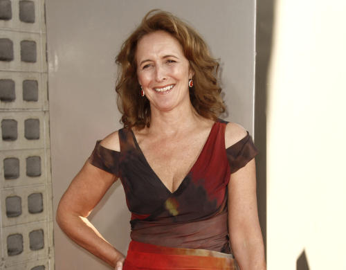 """FILE - This June 21, 2011 file photo shows actress Fiona Shaw at the premiere for the fourth season of """"True Blood"""" in Los Angeles. Shaw, perhaps best known for playing Harry Potter's aunt, portrays the mother of Christ in Irish writer Colm Toibin's world premiere stage adaptation of his novella """"The Testament of Mary,"""" a haunting, provocative work, at the Walter Kerr Theatre in New York. (AP Photo/Matt Sayles, file)"""