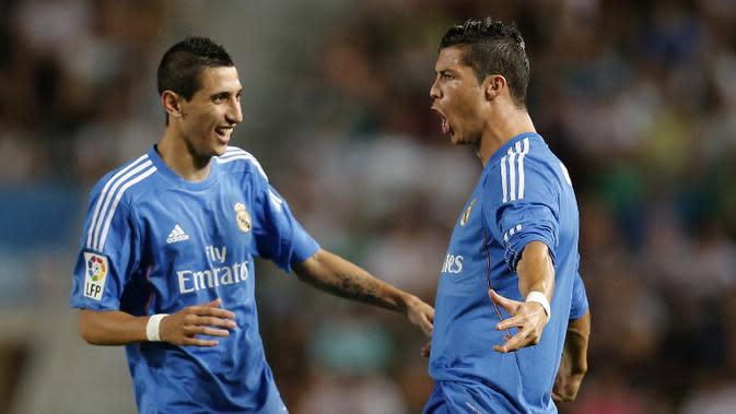 Cristiano Ronaldo dan Angel Di Maria (JOSE JORDAN / AFP)