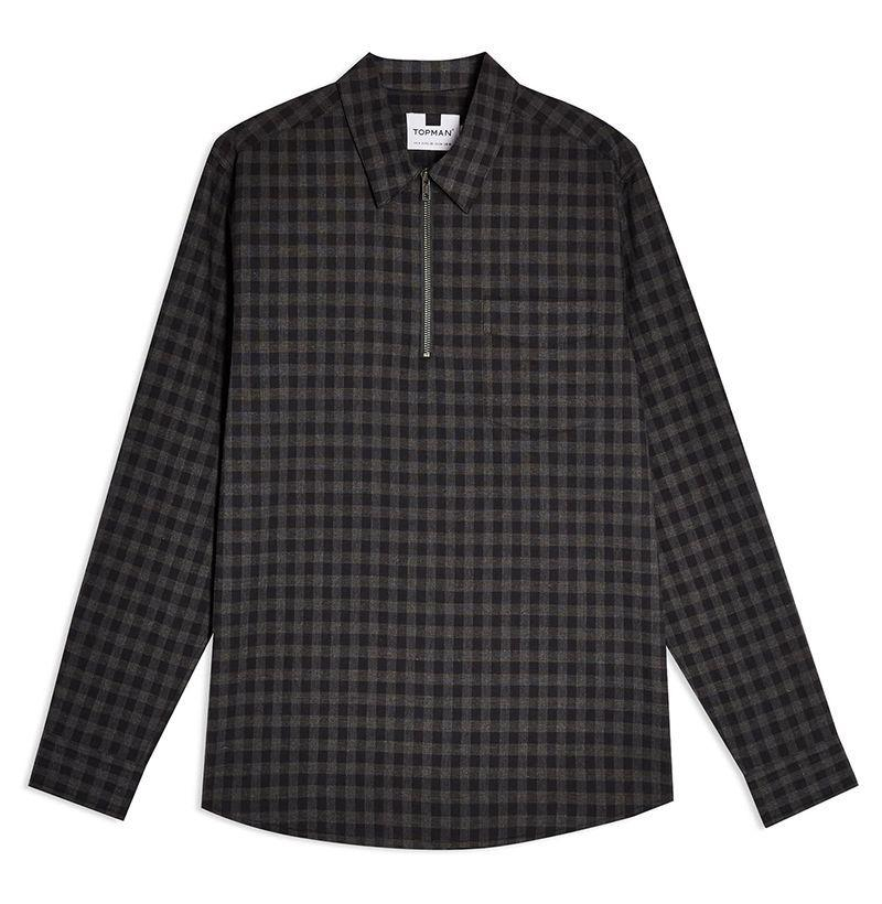 """<p><strong>TOPMAN</strong></p><p>nordstrom.com</p><p><strong>$48.75</strong></p><p><a href=""""https://go.redirectingat.com?id=74968X1596630&url=https%3A%2F%2Fshop.nordstrom.com%2Fs%2Ftopman-gingham-check-quarter-zip-shirt%2F5513211&sref=https%3A%2F%2Fwww.esquire.com%2Fstyle%2Fmens-fashion%2Fg12211292%2Fbest-flannel-shirts-men%2F"""" target=""""_blank"""">Buy</a></p><p>A sleek, decidedly modern rendition of a fall classic, all for less than fifty bucks. What more, really, can you ask for?</p>"""
