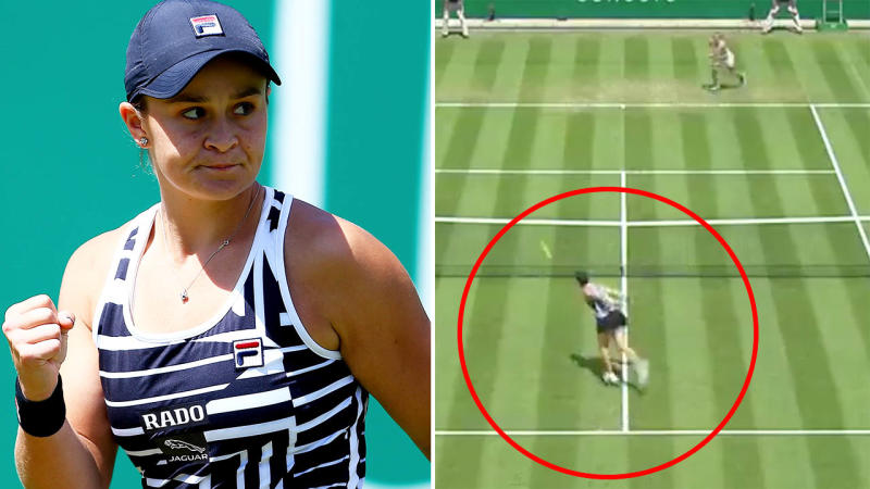 Ash Barty produced a 'ridiculous' gem. Image: Getty/WTA
