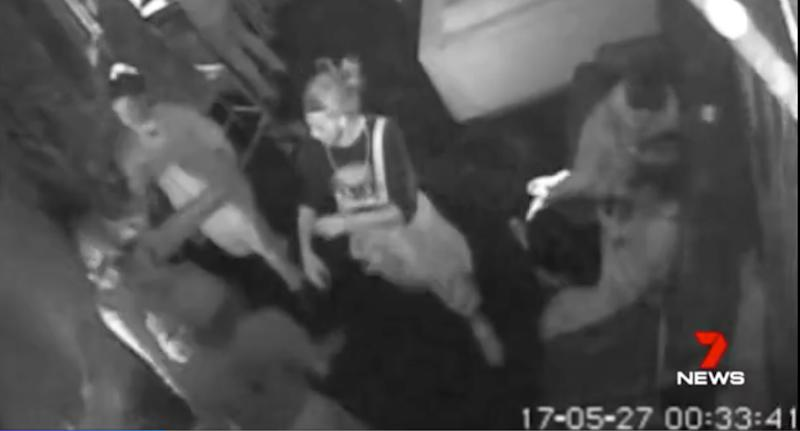 CCTV footage (pictured) captured the attack