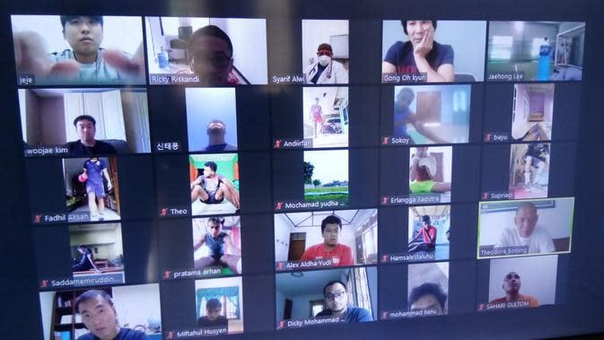 Latihan virtual Timnas Indonesia U-19. (PSSI)