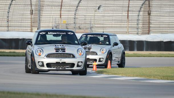 Inside the Indianapolis Motor Speedway's first driving school — with Mini