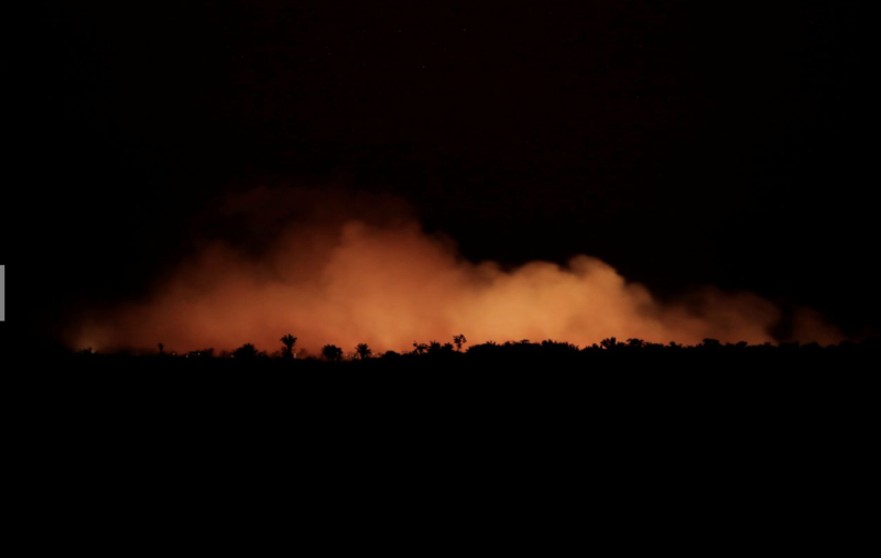 Thousands of blazes have seen the rainforest burning for three weeks straight. Photo: Reuters