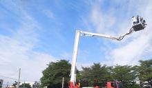 彰消50公尺雲梯消防車密訓加入救災行列