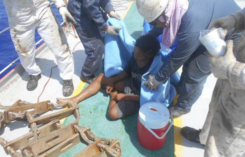 Guam sea rescue: Indonesian teen Aldi Novel Adilang survives stranded rompong 'fishing trap'.