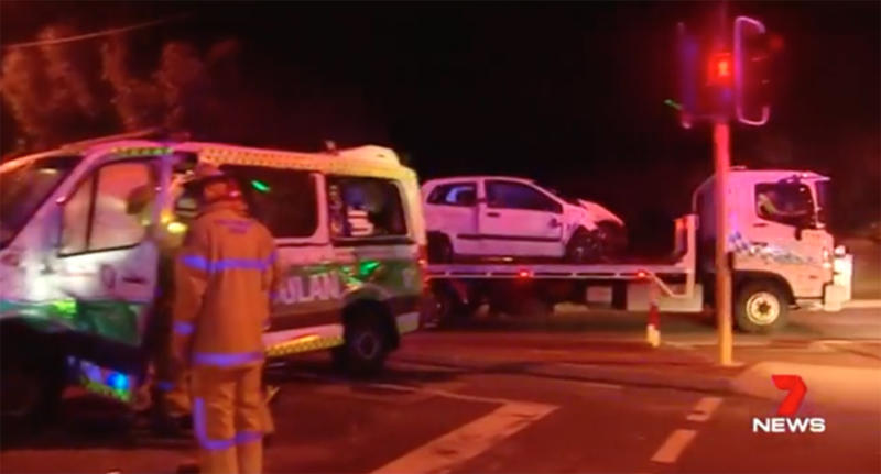 Perth driver 'ploughs into ambulance' injuring six