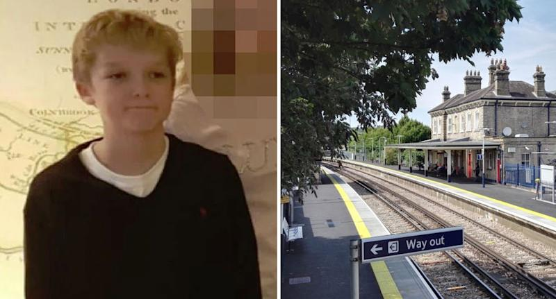 Photo of English teenager Sam Connor who died after stepping onto the tracks at Chertsey Railway Station