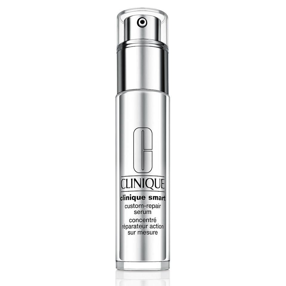 """<p><strong>Clinique</strong></p><p>sephora.com</p><p><strong>$62.00</strong></p><p><a href=""""https://go.redirectingat.com?id=74968X1596630&url=https%3A%2F%2Fwww.sephora.com%2Fproduct%2Fclinique-smart-custom-repair-serum-P387616&sref=https%3A%2F%2Fwww.goodhousekeeping.com%2Fbeauty%2Fanti-aging%2Fg29323401%2Fbest-dark-spot-corrector%2F"""" target=""""_blank"""">Shop Now</a></p><p>A winner of the GH Beauty Lab's anti-aging serum test, this pick was <strong>the best at reducing brown spots and <a href=""""https://www.goodhousekeeping.com/beauty/anti-aging/a35847/how-to-minimize-pores/"""" target=""""_blank"""">shrinking pores</a></strong> in Lab evaluations. Consumer testers also rated it high for having a nice texture (not too thick or greasy), absorbing quickly, and brightening and evening skin tone. """"This serum has made my <a href=""""https://www.goodhousekeeping.com/beauty/anti-aging/tips/a20476/treating-facial-redness/"""" target=""""_blank"""">skin much less red</a> and has helped to fade some discoloration,"""" a tester reported.</p>"""