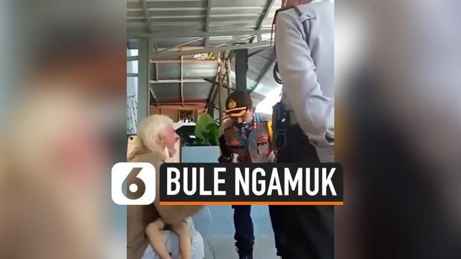 VIDEO: Bule Kanada Ngamuk Diminta Karantina di Magelang