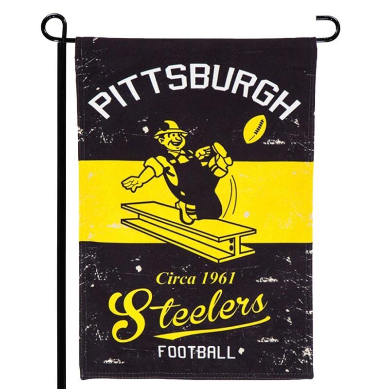 Pittsburgh Steelers Vintage Garden Flag