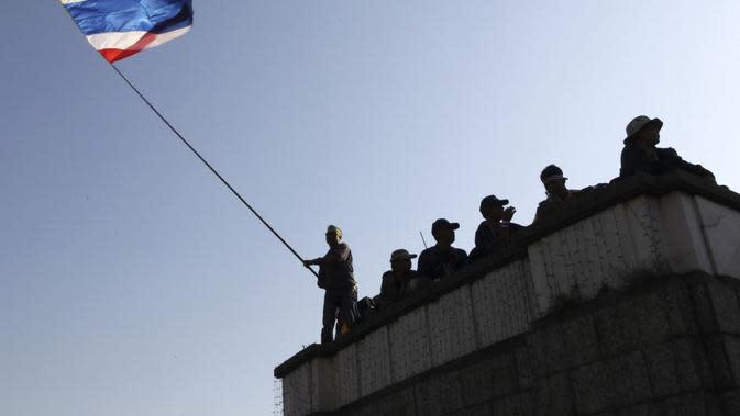Ilustrasi bendera Thailand (AP Photo)