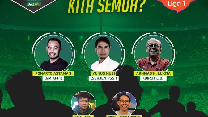 Webinar Half Time KLY Sport Jelang Shopee Liga 1 Berjalan Seru, Narasumber Buka-bukaan