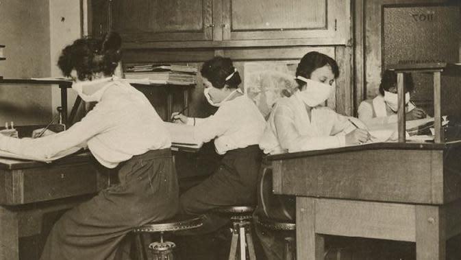 Flu Spanyol pada 1918. (Foto: National Archives)