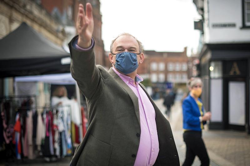 Liberal Democrat leader Sir Ed Davey in St Albans city centre: PA