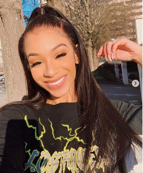 18-year-old Deyjah Harris in an Instagram selfie is the daughter of rapper T.I.