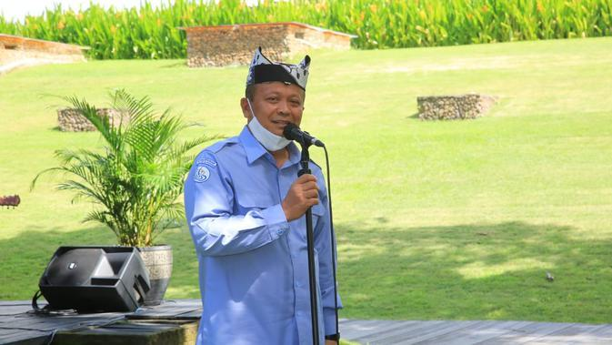 Menteri Kelautan dan Perikanan RI, Edhy Prabowo, melakukan kunjungan kerja di Banyuwangi selama dua hari menyempatkan diri singgah di pendopo Kabupaten Banyuwangi.