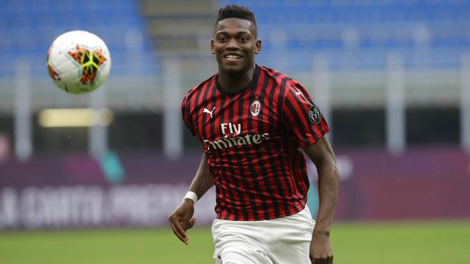 Pemain AC Milan, Rafael Leao. (AP Photo/Luca Bruno)