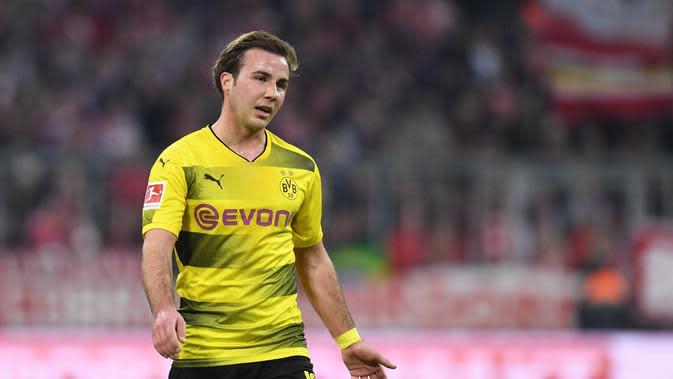 Gelandang Borussia Dortmund, Mario Gotze tertarik hijrah ke Liverpool. (AFP)