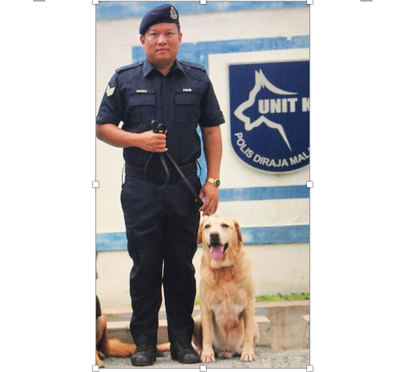 Sergeant Patrick Sandai and Tho were inseparable during their operations such as in night clubs and airports. — Picture courtesy of Patrick Sandai