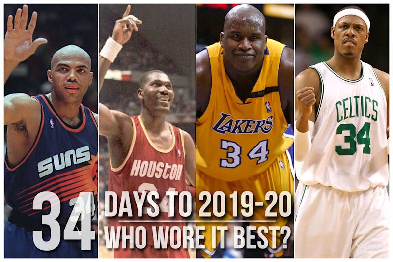 Which NBA player wore No. 34 best?