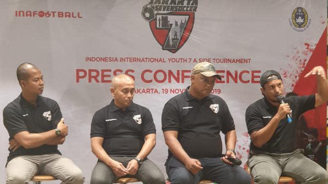 INAFOOTBALL saat jumpa pers penyelenggaraan JAKARTA SEVEN SOCCER (J7S), turnamen sepak bola internasional usia muda 7 a side (7v7) pertama di Indonesia. (Istimewa)