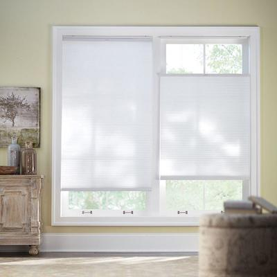 Home Decorators Collection Snow Drift Shadow White Cordless Day And Night Blackout Cellular Shade 70 25 In W X 72 In L Yahoo Shopping