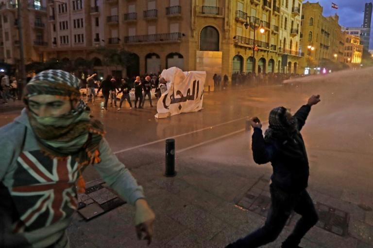 Lebanese anti-government protesters stayed on the streets Wednesday to voice their discontent with the new cabinet