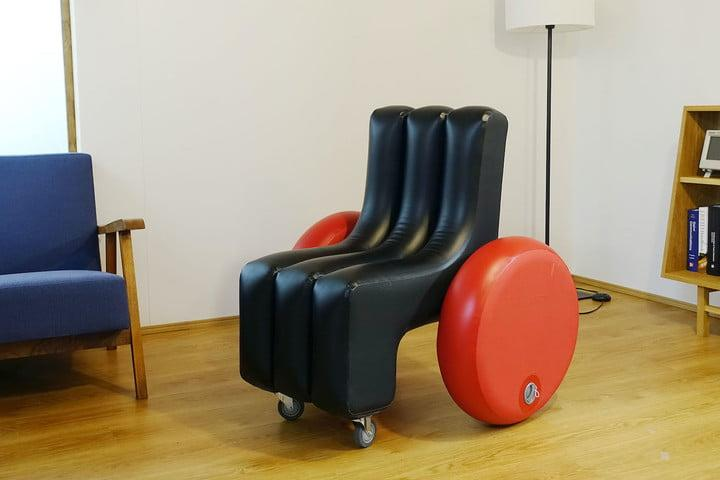 Inflatable wheelchair