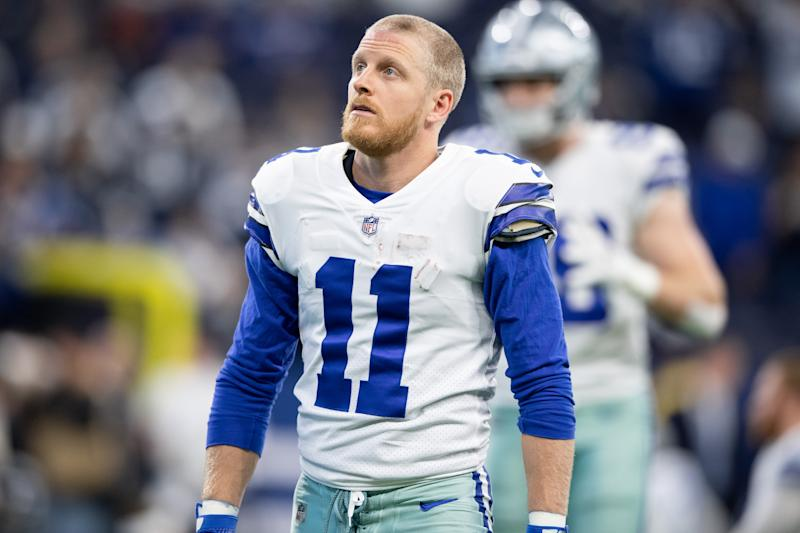 INDIANAPOLIS, IN - DECEMBER 16: Dallas Cowboys wide receiver Cole Beasley (11) warms up on the field before the NFL game between the Indianapolis Colts and Dallas Cowboys on December 16, 2018, at Lucas Oil Stadium in Indianapolis, IN. (Photo by Zach Bolinger/Icon Sportswire via Getty Images)